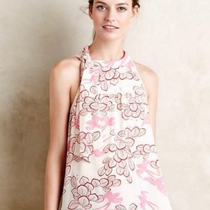 Anthropologie Maeve Elata Pink Bird Tank 4